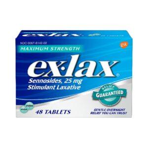 Ex-Lax Max Strength Stimulant Laxative pills 48pc