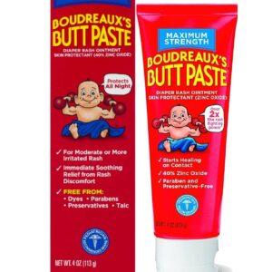 Boudreaux's Max Strength Butt Paste nappy Rash Ointment