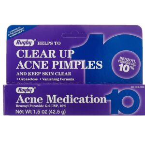 rugby 10 acne pinmple medication 10% benzoyl peroxide