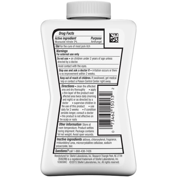 Zeasorb-AF Super Absorbent Antifungal Treatment Powder for Jock Itch ingredients