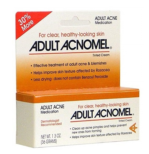 Adult Acnomel Tinted Cream Acne and Rosacea Medication