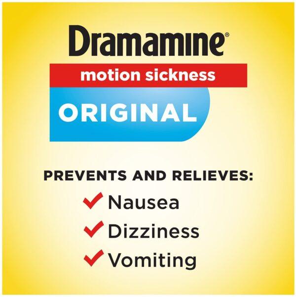 Dramamine Original Motion Sickness tablets use