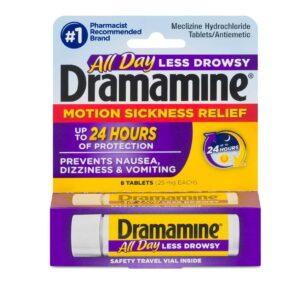 "Dramamine Motion Sickness tablets Less Drowsy ""UK"""