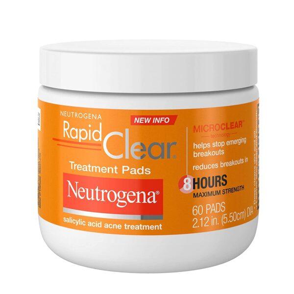 Neutrogena rapid clear acne treatment pads